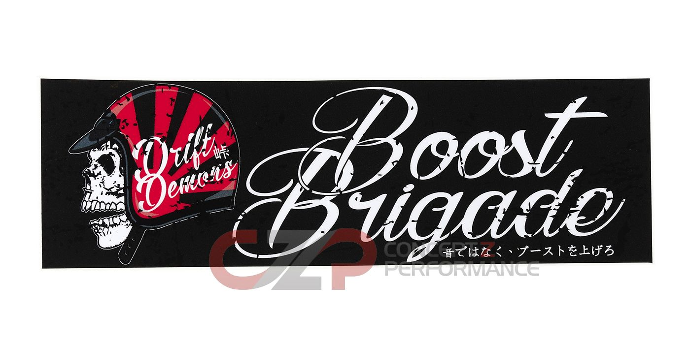 Boost Brigade Drift Demons Bumper Sticker - White/Black/Red