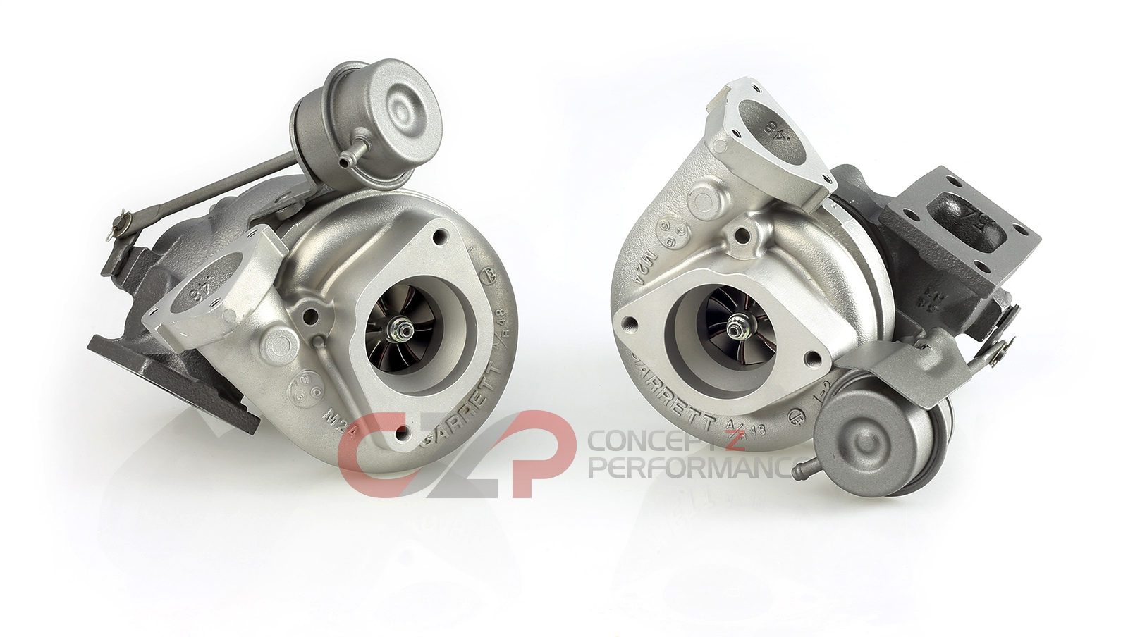 Turbos Direct Garrett Stock OEM Twin Turbocharger, Rebuilt - Nissan 300ZX 90-96 Z32