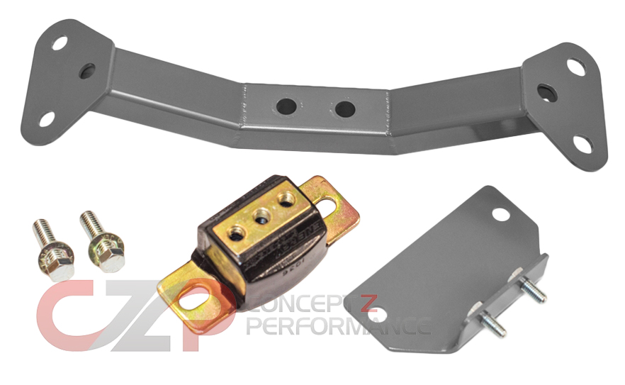BDE Polyurethane Transmission Mount and Crossmember Kit - Nissan 300ZX Z32