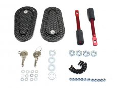 Aerocatch Hood Pin Flush Kit, Carbon Look w/ Locking
