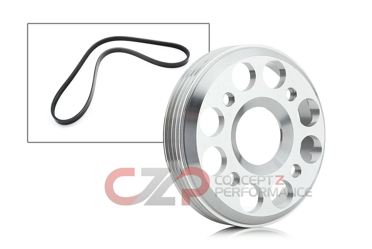 Unorthodox Racing WS10161A Overdrive Water Pump Pulley w/ Belt - Nissan 300ZX 90-96 Z32