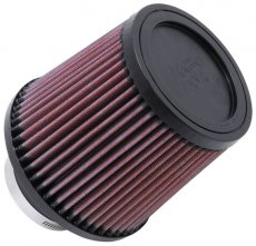 "K&N Filter Universal Rubber Filter-Rd Tapered 3"" Flange ID x 6"" Base OD x 5"" Top OD x 5.563"" H"