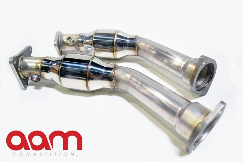 AAM Competition 3.0TT Resonated Lower Downpipes / Test Pipes, VR30DDTT - Infiniti Q50 Q60 Premium / Red Sport RS400