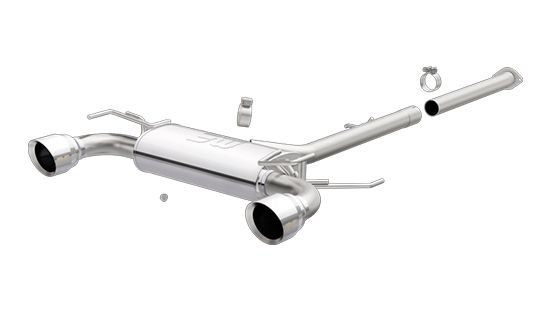"Magnaflow Street Series Y-Pipe Back Exhaust System 2.5"", Polished - Nissan 350Z 03-08 Z33"