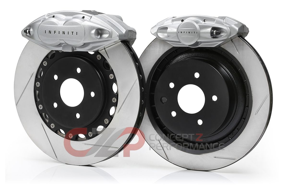"Akebono Front and Rear 14"" BBK Big Brake Red Sport Upgrade Kit -  Infiniti M37 M56 Q50 Q60 Q70"