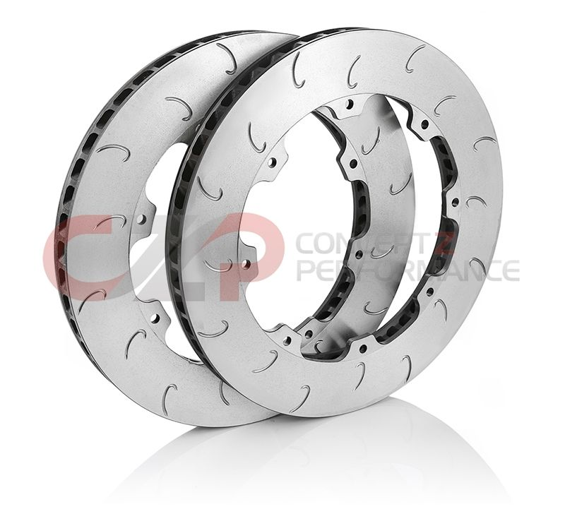 AP Racing Front Replacement J Hook 390mm Rotors w/ Hardware - Nissan GT-R 12+ R35