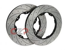 AVS Replacement High Carbon Alloy Steel Rotors, 400x31mm, Rear Pair - Nissan GT-R 09+ R35