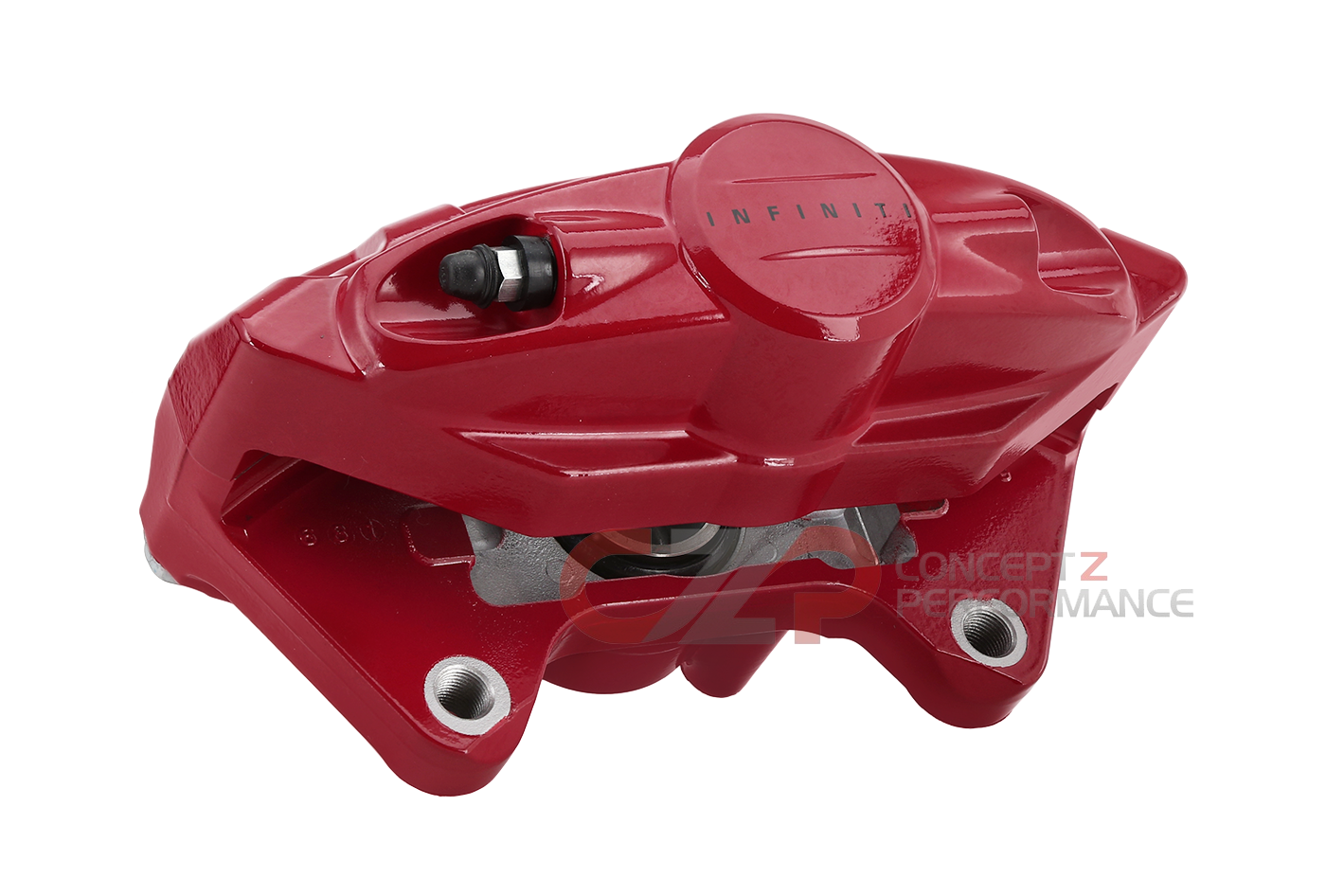 Infiniti OEM Q60 Red Sport Akebono Brake Caliper Assembly, Rear RH - 17+ CV37