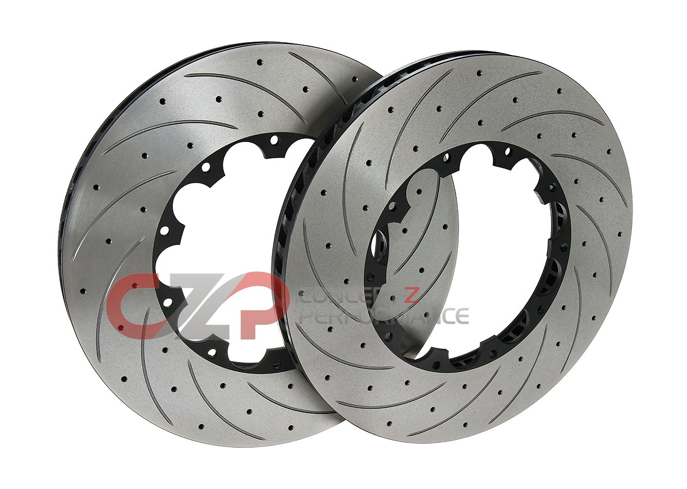 AVS Replacement High Carbon Alloy Steel Rotors, 400x35mm, Front Pair - Nissan GT-R 09+ R35