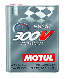Motul 300V POWER 5W40 Synthetic Ester Racing Oil - 2 Liters