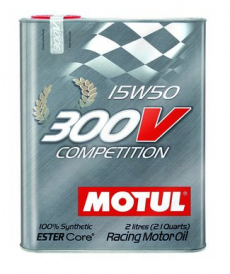 Motul 300V COMPETITION 15W50 Synthetic Ester Racing Oil - 2 Liters