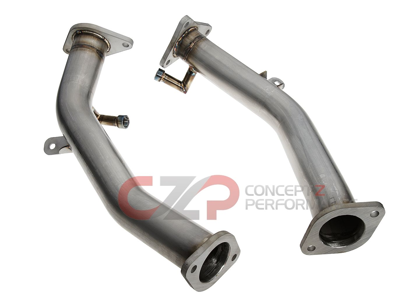 "CZP by PPE Stainless Steel Lower Downpipe / Test Pipe, 2.5"" - Infiniti Q50 / Q60 3.0t Premium / Red Sport RS400 VR30DDTT"