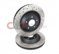 DBA Drilled/Slotted 330x28mm Front Set for Stillen AP Racing 30-1100 BBK, Rotor w/ Black Hat