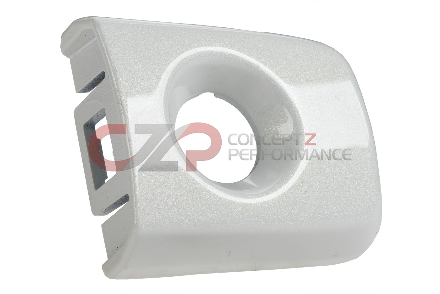 Infiniti OEM LH Keyhole Cover Outside Handle Escutcheon, RH QAA Moonlight White Pearl Coupe 09+ CV36