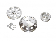 ISR Performance Light Weight Pulley Kit, Silver - Nissan 89-94 SR20DET S13