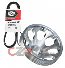 Unorthodox Racing Lightweight Crank Pulley w/ Belt, Stock Sized - Infiniti Q50 14-15 VQ37VHR V37