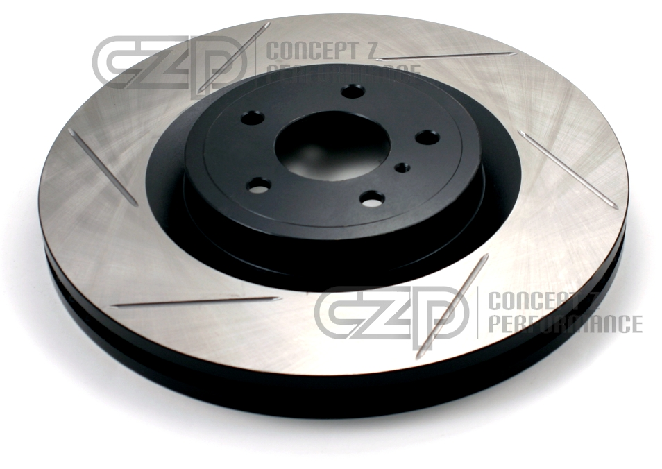 Stoptech 126.42047S Direct Replacement L+R Rotors, Slotted, Rear - Nissan 300ZX 90-96 Z32