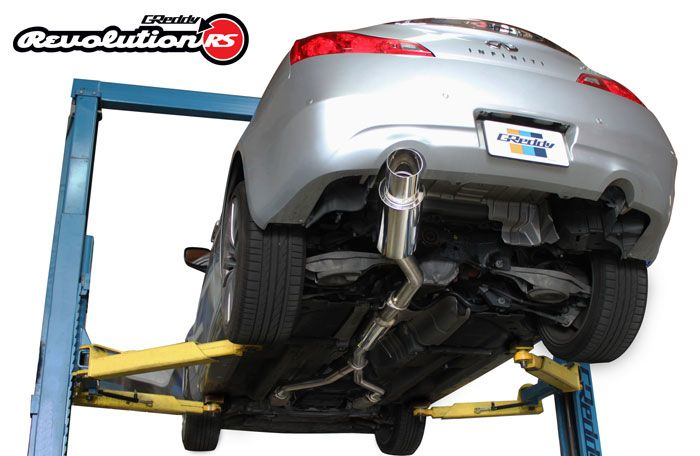 "Greddy Revolution RS 2.5"" to 3"" Stainless Steel Single Exit Catback Exhaust  - Infiniti G37 Q60 Coupe CV36"