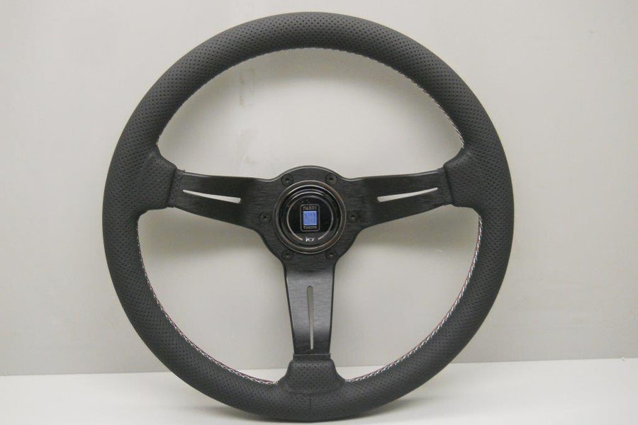 Nardi Sport Rally (Deep Corn) Steering Wheel Black Perforated Leather w/ Italian (GWR) Stitching & Black Spokes - 350mm