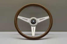 Nardi Classic Wood Steering Wheel Mahogany w/ Satin Spokes & Center Ring - 360mm