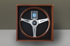 Nardi Classic Wood & Frame Steering Wheel w/ Polished Spokes & Center Ring - 360mm