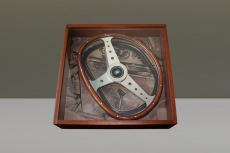 Nardi Bisiluro & Frame Steering Wheel Wood w/ Polished Spokes & Center Ring - 390mm