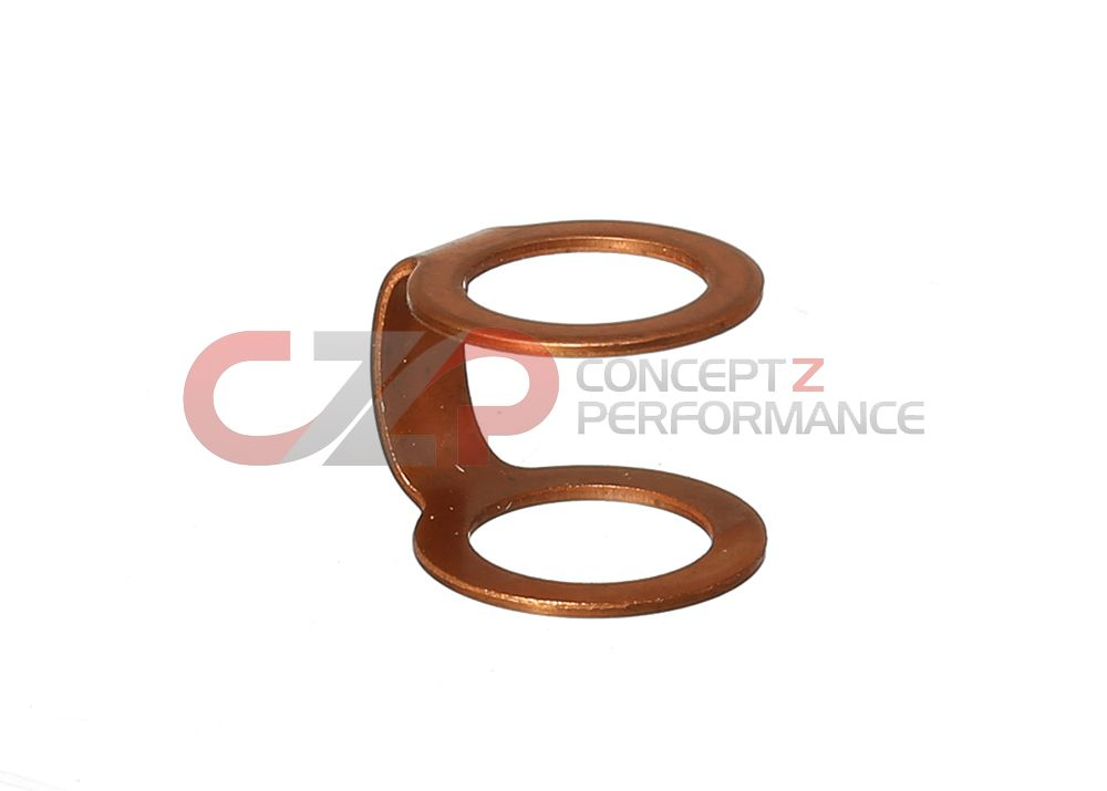 Nissan OEM Turbo Oil Feed Line Conjoined Dual Copper Crush Washer Gasket - Small - Nissan GT-R R35