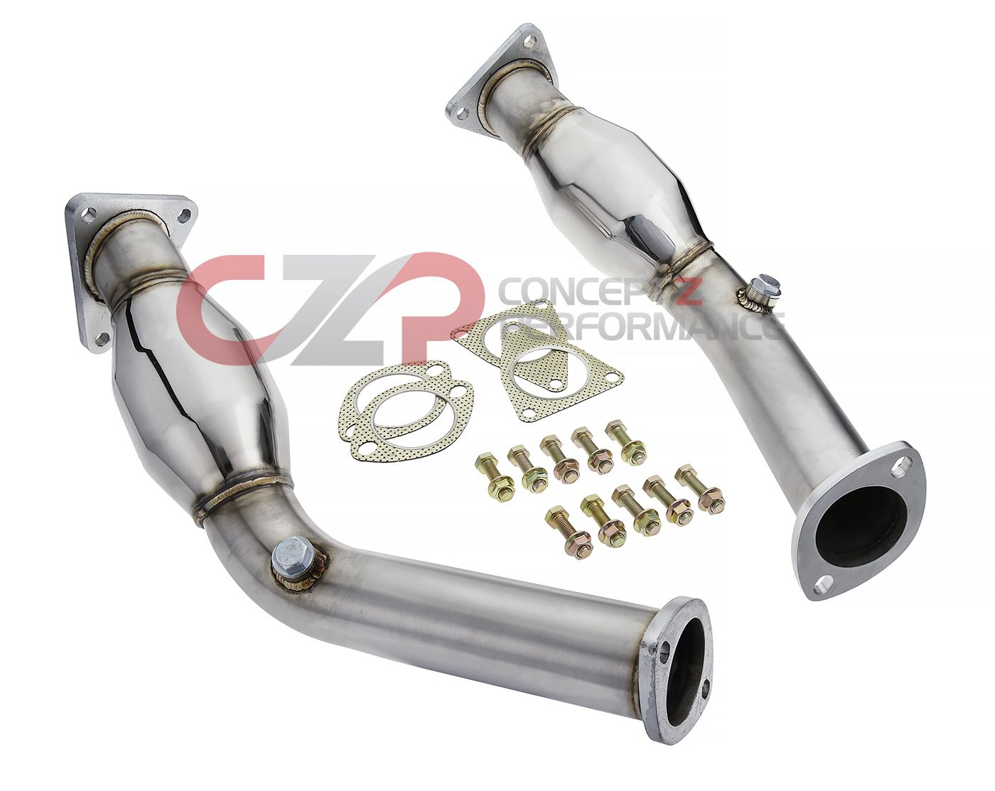 ISR Performance Stainless Steel Resonated Test Pipes, VQ35HR VQ37VHR - Nissan 350Z 370Z / Infiniti G35 G37 Q40 Q50 Q60 - IN STOCK!!!