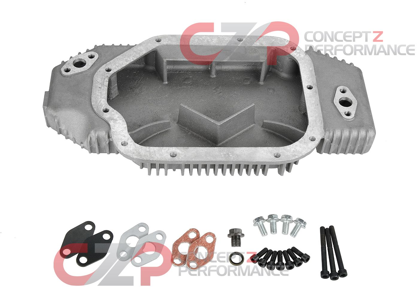CZP Large High Capacity Finned Aluminum Oil Pan, VQ35DE - Nissan 350Z & Infiniti G35