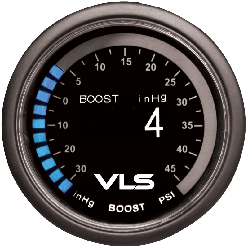 Revel VLS Boost / Vacuum Gauge 52mm, Digital OLED Display w/ Boost Sensor & Mounting Kit