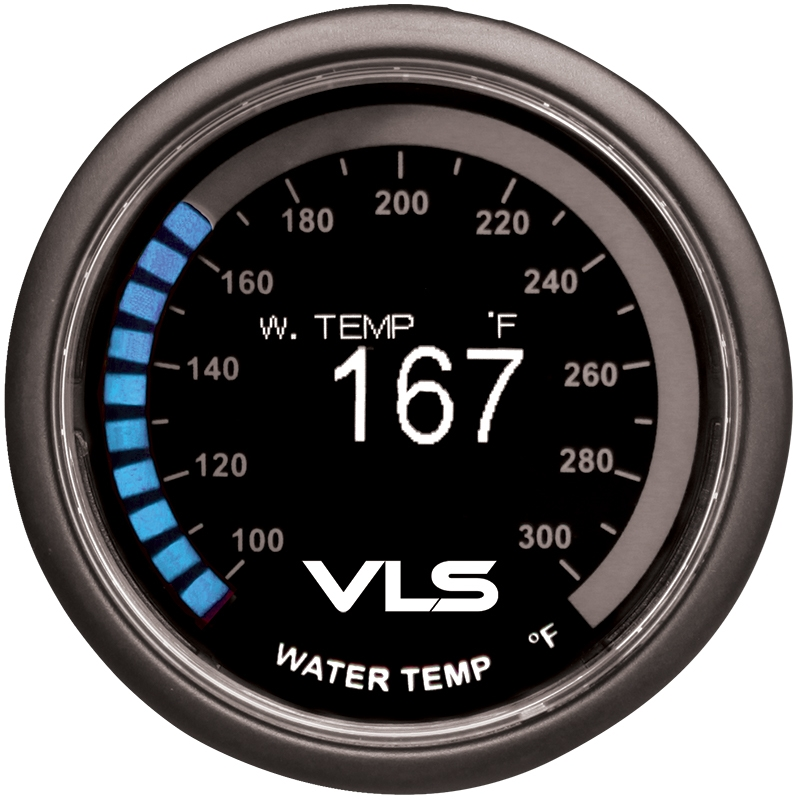 Revel VLS Water Temperature Gauge 52mm, 100°F to 300°F Digital OLED Display w/ Water Temperature Sensor & Mounting Kit