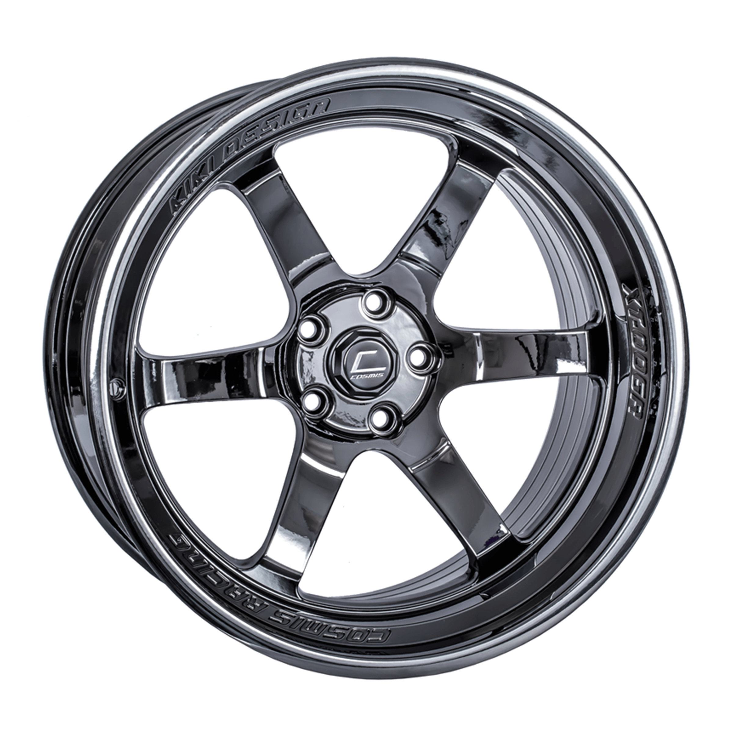 Cosmis Racing XT-006R Wheel, Sold Individually - 18x11 +8mm Black Chrome