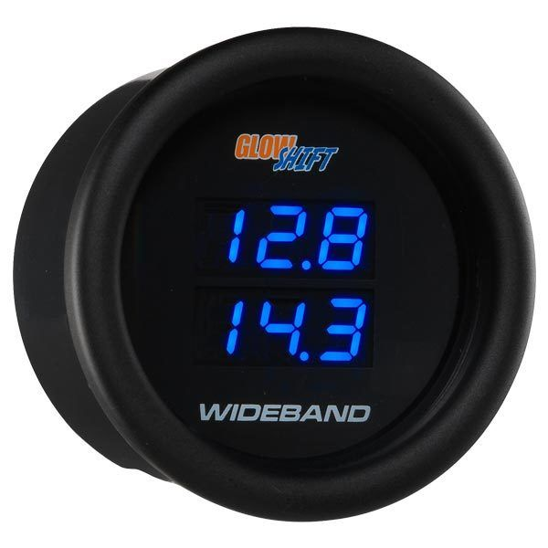 Black 7 Series Dual Digital Wideband Air/Fuel Ratio Gauge