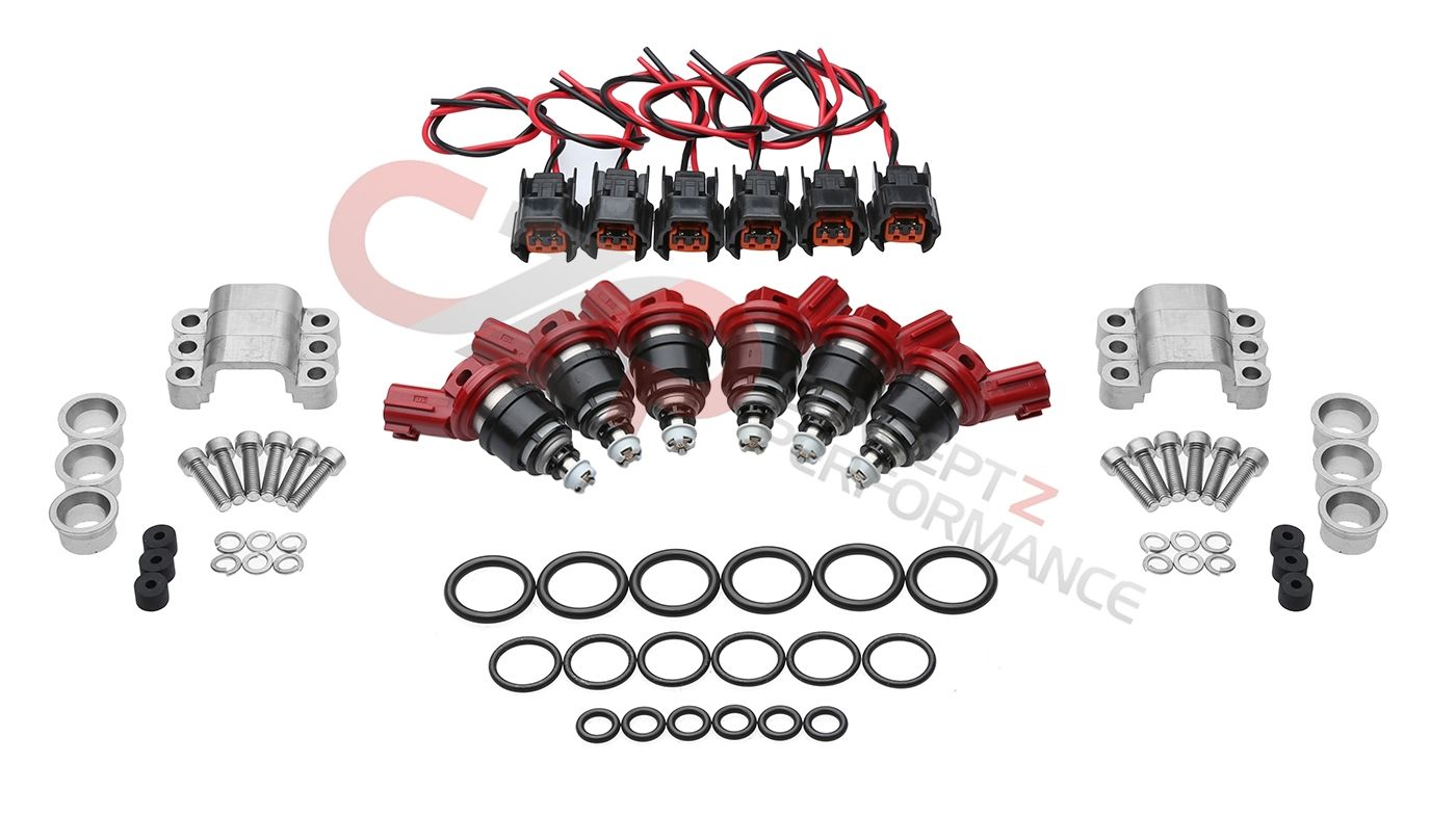 Nismo 740cc Injector Set w/ Adapter Kit - Nissan 300ZX 90-94 Twin Turbo TT Z32