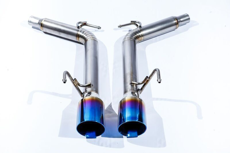 Top Speed Pro-1 Axle Back Exhaust System, Full Titanium w/ Burnt Tips - Infiniti G35 G37 & Q40 Sedan