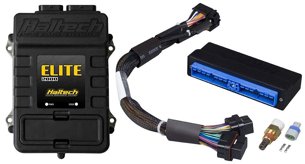 Haltech Elite 2000 / 2500 Standalone ECU w/ Plug-n-Play Adapter Harness & IAT Sensor - Nissan 300ZX 90-95 Z32 Manual Transmission