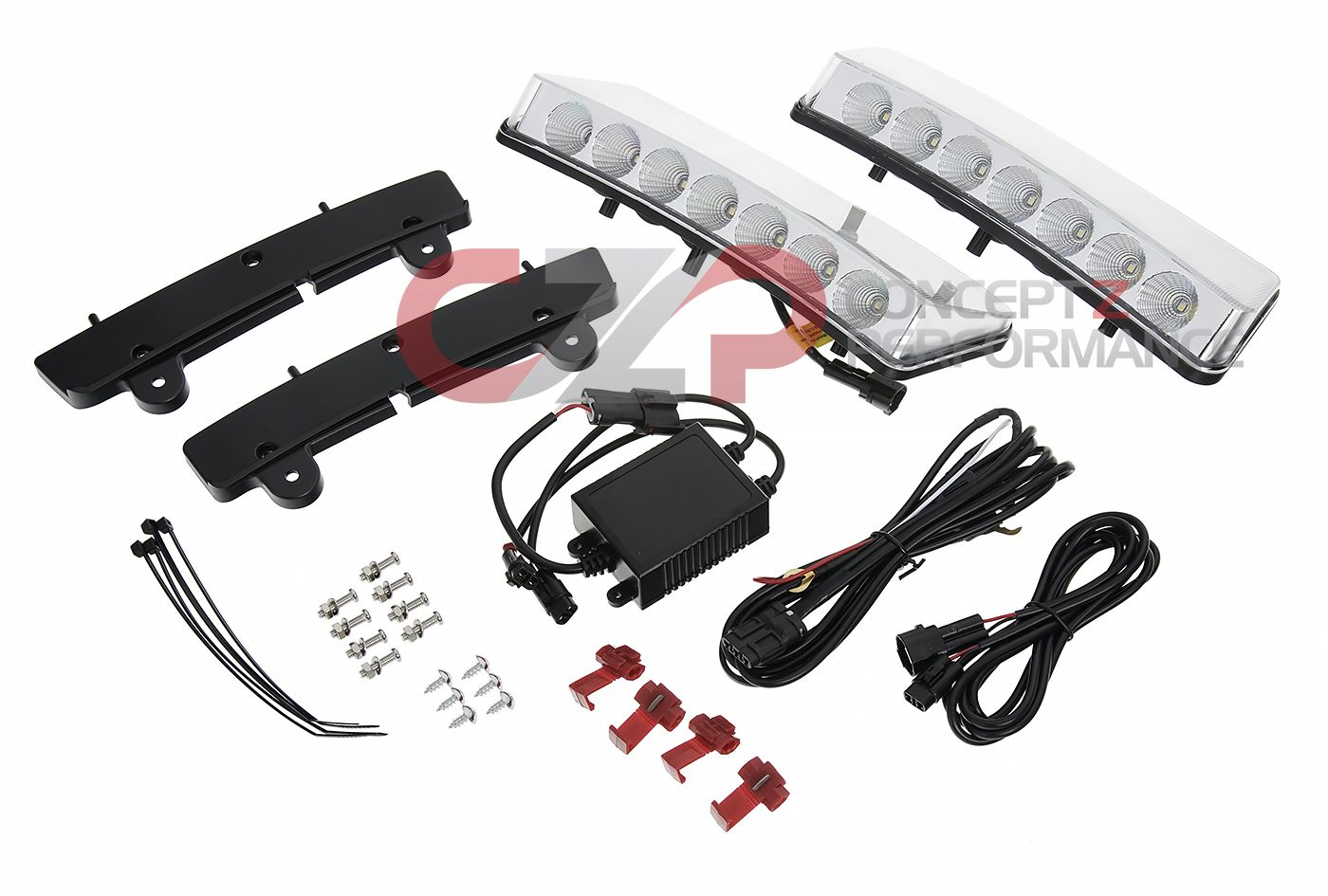 Torqen LED DRL + Side Indicator, Clear - Nissan 350Z 03-05 Z33