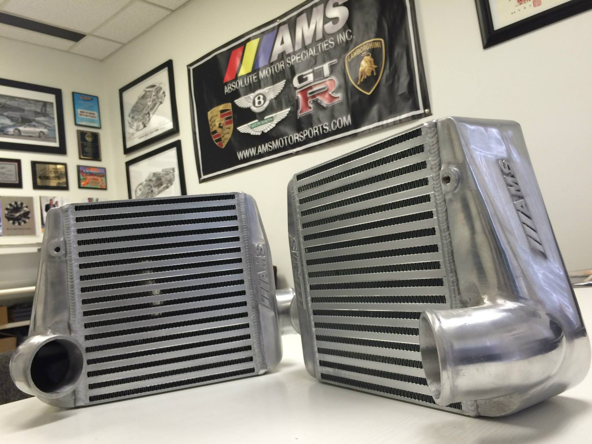 "AMS ""OMEGA"" 2.5"" Side Mount Intercoolers w / Couplers - Nissan 300ZX Z32"