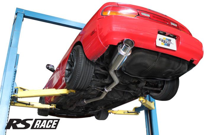 "Greddy GPP RS-Race Single Exit Cat-Back Exhaust System, 4.5"" Tip - Nissan 240SX 89-94 S13"