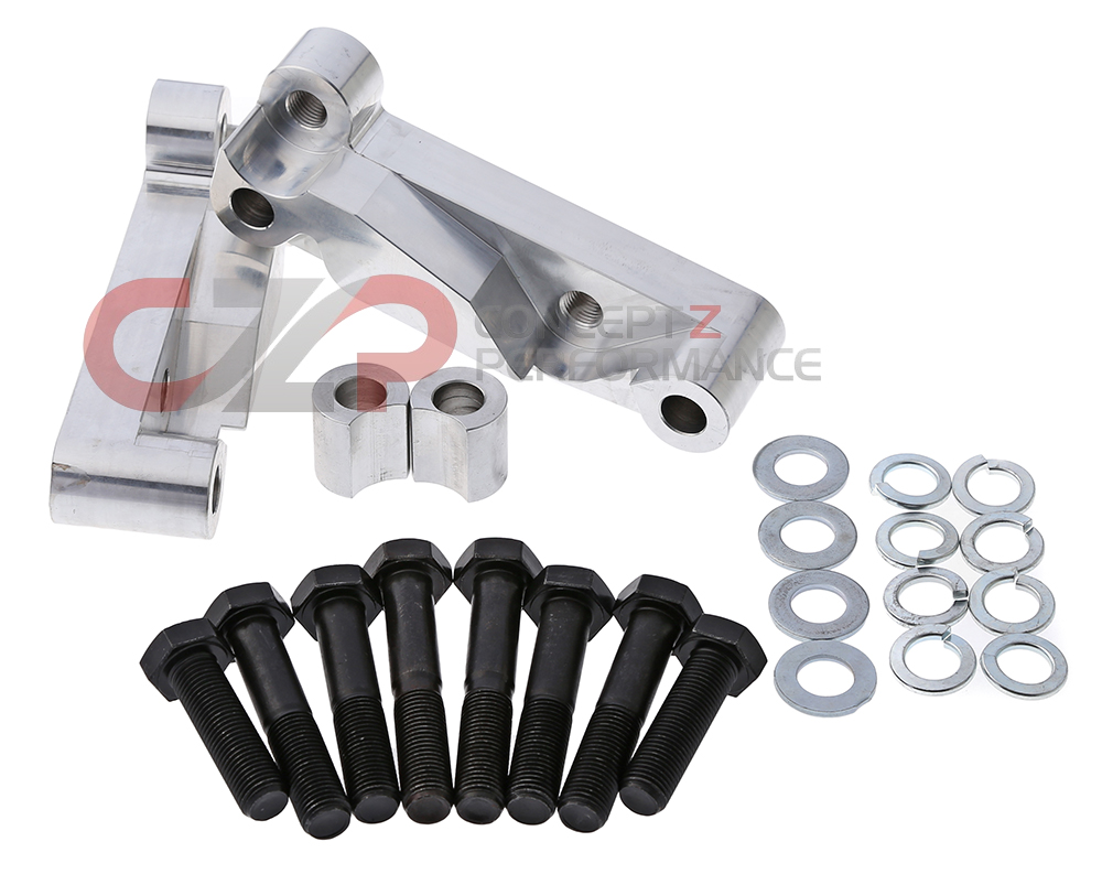 CZP Original Akebono Caliper Bracket Adapter Kit, Front - Nissan 350Z / Infiniti G35