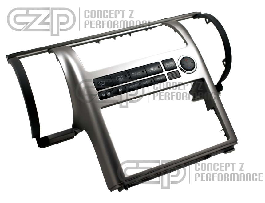 Nissan JDM Double Din Conversion Kit, Titanium Silver - Infiniti G35 03-04 Sedan & Coupe V35