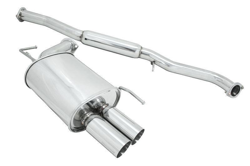 "Megan Racing OE-RS Series Y-Pipe Exhaust System, Dual 3"" Stainless Rolled Tips, RWD - Infiniti G35 03-06 Sedan V35"