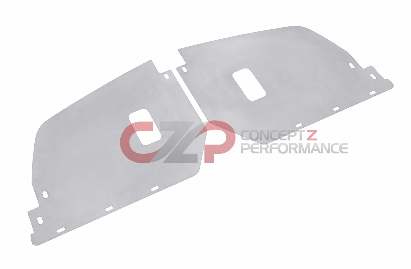 Infamouz Custom Designz Aluminum Front Bumper Side Splash Shield Cover Set - Nissan 240SX S13