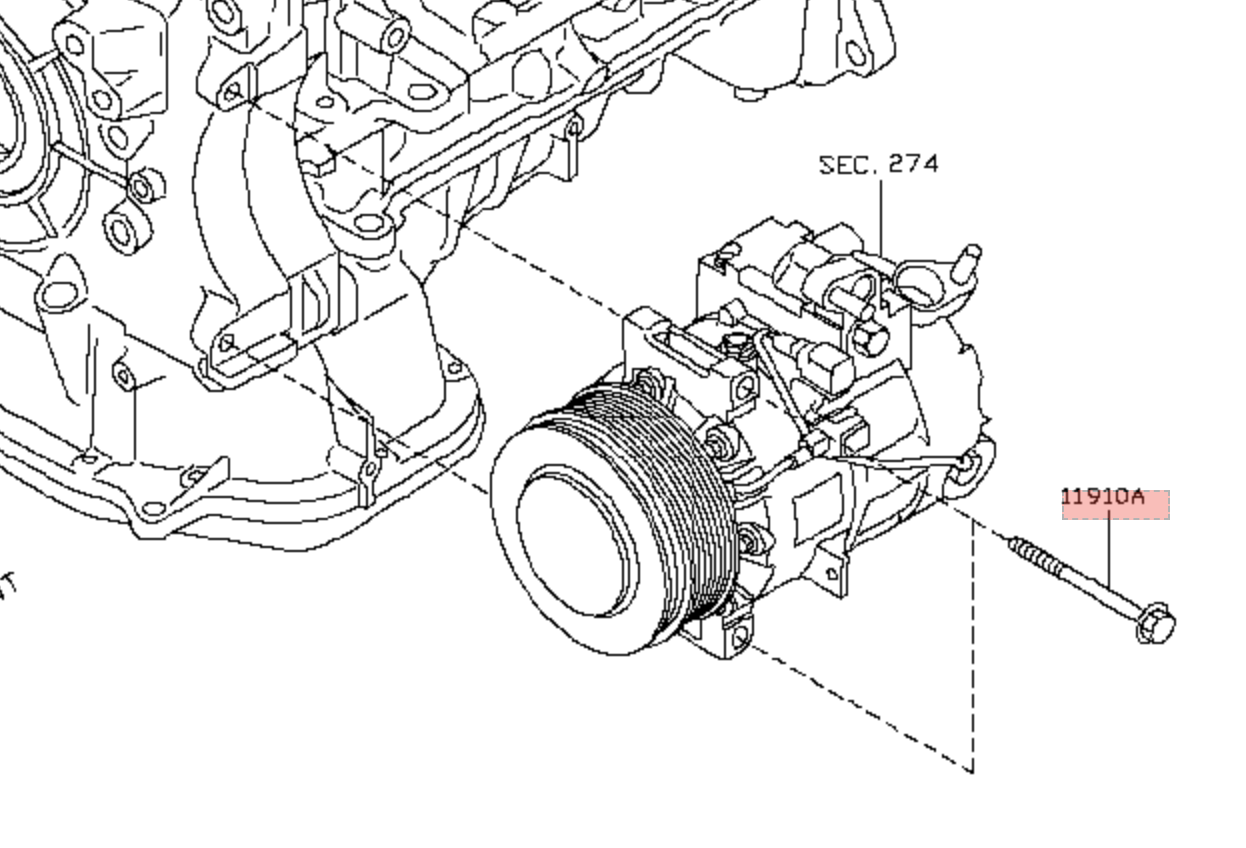 NEW A//C Compressor for Infiniti EX35 FX35 G37 M37 Q60 Q70 QX50 QX70 Nissan 370Z