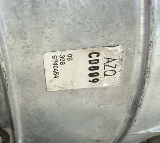 CD009 Transmission VIN NUMBER CHECK - Nissan 350Z / Infiniti G35