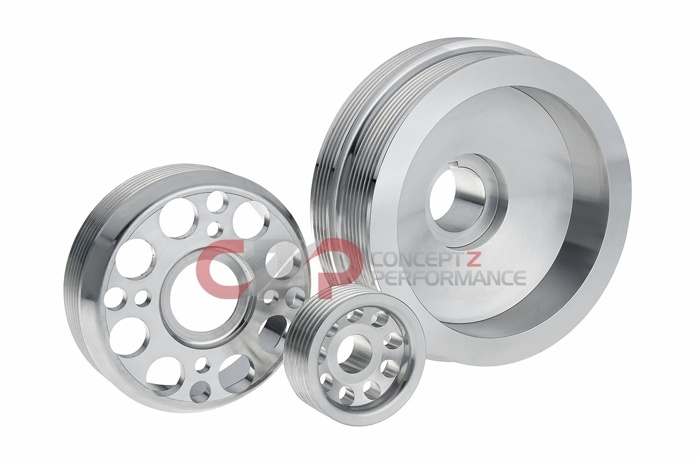 Unorthodox Racing Tuner Pulley Set, Stock Sized VQ35DE - Nissan 350Z / Infiniti G35