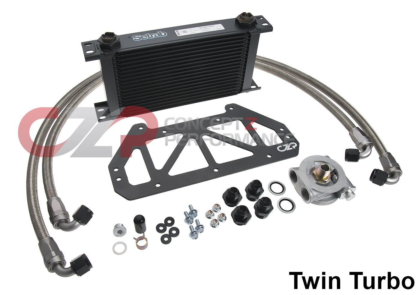 CZP Full-Flow Engine Oil Cooler Kit - Nissan 300ZX Z32