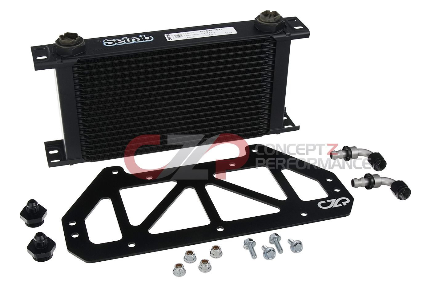 CZP Oil Cooler Upgrade Kit w/ Setrab Oil Cooler - Nissan 300ZX Twin Turbo TT Z32