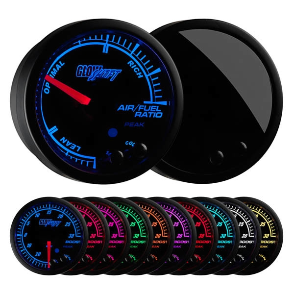 GlowShift  GS-ET02 Elite 10 Color Air/Fuel Ratio Gauge