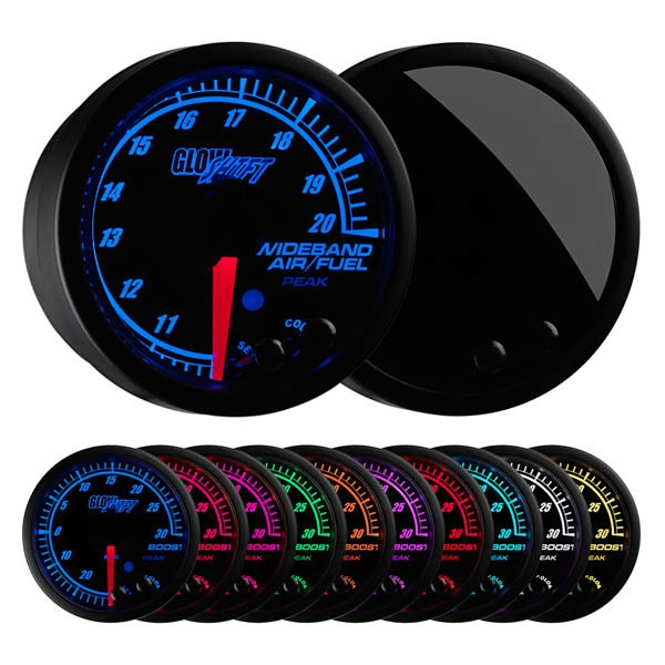 GlowShift  GS-ET02W Elite 10 Color Wideband Air/Fuel Ratio Gauge